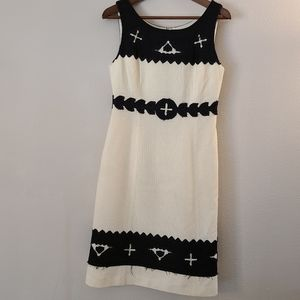 Tory Burch Wool Blend Sleeveless Midi Sheath Dress
